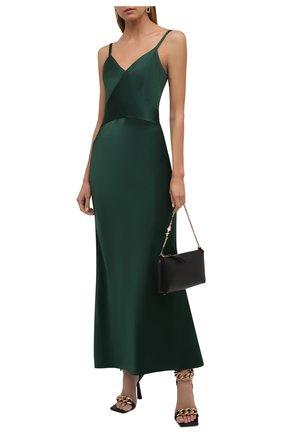 Женское платье POLO RALPH LAUREN зеленого цвета, арт. 211815362 | Фото 2 (Материал внешний: Синтетический материал; Длина Ж (юбки, платья, шорты): Макси; Стили: Гламурный; Случай: Вечерний; Женское Кросс-КТ: Сарафаны)