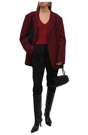 Женский пуловер из вискозы JIL SANDER красного цвета, арт. JSWT754330-WTY39148 | Фото 2 (Материал внешний: Вискоза; Рукава: Длинные; Длина (для топов): Стандартные; Стили: Минимализм; Женское Кросс-КТ: Пуловер-одежда)