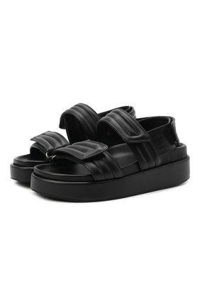 Женские кожаные сандалии DRIES VAN NOTEN черного цвета, арт. WW212/169/QU126 | Фото 1 (Материал внутренний: Натуральная кожа; Подошва: Платформа)