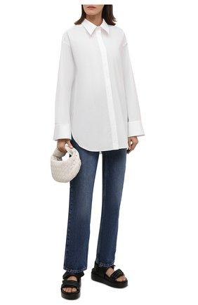 Женские кожаные сандалии DRIES VAN NOTEN черного цвета, арт. WW212/169/QU126 | Фото 2 (Материал внутренний: Натуральная кожа; Подошва: Платформа)