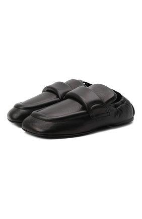 Женские кожаные лоферы DRIES VAN NOTEN черного цвета, арт. WW212/174/QU126 | Фото 1 (Каблук высота: Низкий; Подошва: Плоская; Материал внутренний: Натуральная кожа)