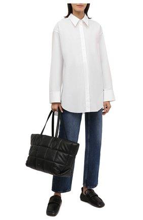 Женские кожаные лоферы DRIES VAN NOTEN черного цвета, арт. WW212/174/QU126 | Фото 2 (Каблук высота: Низкий; Подошва: Плоская; Материал внутренний: Натуральная кожа)