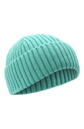 Мужская шапка PHARMACY INDUSTRY бирюзового цвета, арт. PHACP46 | Фото 1 (Материал: Текстиль, Синтетический материал; Кросс-КТ: Трикотаж)