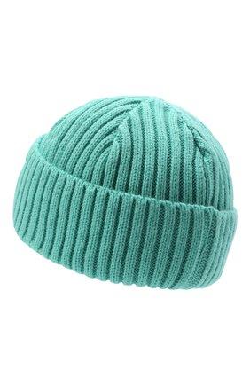 Мужская шапка PHARMACY INDUSTRY бирюзового цвета, арт. PHACP46 | Фото 2 (Материал: Текстиль, Синтетический материал; Кросс-КТ: Трикотаж)
