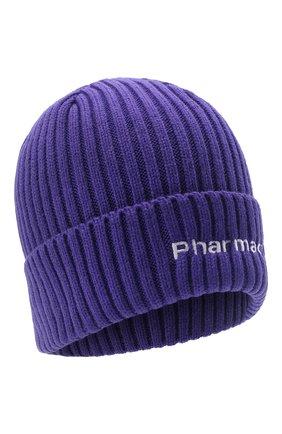 Мужская шапка PHARMACY INDUSTRY фиолетового цвета, арт. PHACP45   Фото 1 (Материал: Текстиль, Синтетический материал; Кросс-КТ: Трикотаж)