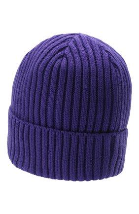 Мужская шапка PHARMACY INDUSTRY фиолетового цвета, арт. PHACP45   Фото 2 (Материал: Текстиль, Синтетический материал; Кросс-КТ: Трикотаж)