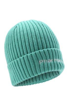 Мужская шапка PHARMACY INDUSTRY бирюзового цвета, арт. PHACP45 | Фото 1 (Материал: Синтетический материал, Текстиль; Кросс-КТ: Трикотаж)