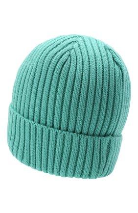 Мужская шапка PHARMACY INDUSTRY бирюзового цвета, арт. PHACP45 | Фото 2 (Материал: Синтетический материал, Текстиль; Кросс-КТ: Трикотаж)