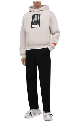 Мужские комбинированные кроссовки space DOLCE & GABBANA белого цвета, арт. CS1963/AQ408 | Фото 2 (Материал внутренний: Натуральная кожа, Текстиль; Подошва: Массивная; Материал внешний: Текстиль; Стили: Гранж)