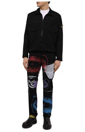 Мужские джинсы MSFTSREP черного цвета, арт. 31MSFPJ201S1/218788   Фото 2 (Материал внешний: Хлопок; Длина (брюки, джинсы): Стандартные; Кросс-КТ: Деним; Силуэт М (брюки): Прямые; Стили: Гранж)
