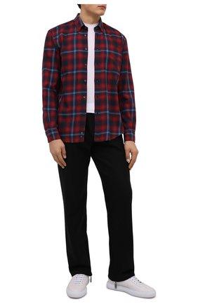 Мужская хлопковая рубашка ASPESI красного цвета, арт. W1 A CE24 E705   Фото 2 (Рукава: Длинные; Длина (для топов): Стандартные; Материал внешний: Хлопок; Случай: Повседневный; Манжеты: На пуговицах; Воротник: Button down; Принт: Клетка; Рубашки М: Regular Fit; Стили: Кэжуэл)