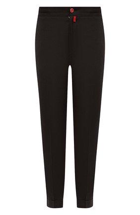 Мужские брюки из шерсти и кашемира KITON темно-коричневого цвета, арт. UFPLACK0121A   Фото 1 (Материал внешний: Шерсть; Случай: Повседневный; Стили: Кэжуэл; Длина (брюки, джинсы): Стандартные)