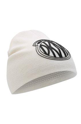 Детского шапка DKNY кремвого цвета, арт. D31279 | Фото 1 (Материал: Текстиль, Синтетический материал, Хлопок)