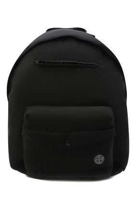 Детская рюкзак STONE ISLAND черного цвета, арт. 751690362   Фото 1 (Материал: Текстиль)