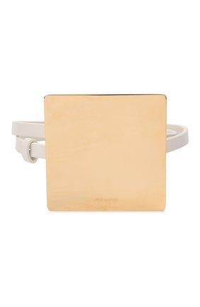 Женский кожаный пояс JIL SANDER белого цвета, арт. JSWT800433-WTS69158 | Фото 1 (Кросс-КТ: Тонкие)