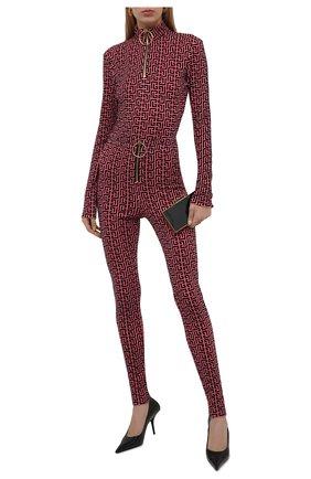 Женский пуловер из вискозы balmain x rossignol BALMAIN фуксия цвета, арт. WF2AR150/J226   Фото 2 (Длина (для топов): Стандартные; Рукава: Длинные; Материал внешний: Вискоза; Стили: Спорт-шик; Женское Кросс-КТ: Пуловер-одежда)