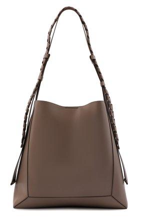 Женская сумка STELLA MCCARTNEY бежевого цвета, арт. 700166/W8775 | Фото 1 (Размер: large; Ремень/цепочка: На ремешке; Материал: Экокожа, Текстиль; Сумки-технические: Сумки через плечо)