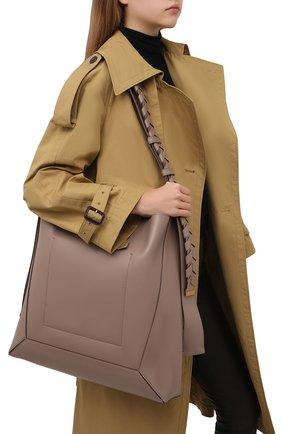 Женская сумка STELLA MCCARTNEY бежевого цвета, арт. 700166/W8775 | Фото 2 (Размер: large; Ремень/цепочка: На ремешке; Материал: Экокожа, Текстиль; Сумки-технические: Сумки через плечо)