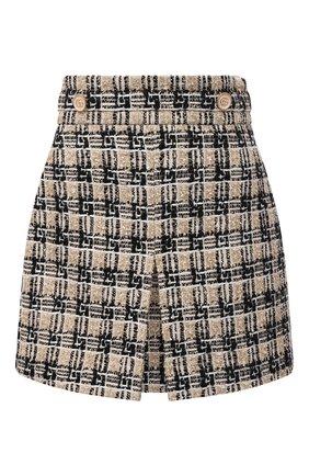 Женская юбка GUCCI черного цвета, арт. 661562/ZAGLP | Фото 1 (Длина Ж (юбки, платья, шорты): Мини; Материал подклада: Вискоза; Стили: Гламурный; Женское Кросс-КТ: Юбка-одежда)