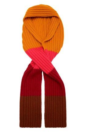 Женский кашемировый шарф-капюшон LORO PIANA розового цвета, арт. FAL9049 | Фото 1 (Материал: Шерсть, Кашемир)