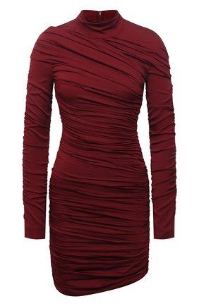 Женское платье из вискозы STELLA MCCARTNEY бордового цвета, арт. 603943/SSA34 | Фото 1 (Длина Ж (юбки, платья, шорты): Мини; Материал внешний: Вискоза; Материал подклада: Вискоза; Рукава: Длинные; Стили: Гламурный; Случай: Вечерний; Женское Кросс-КТ: Платье-одежда, платье-футляр)