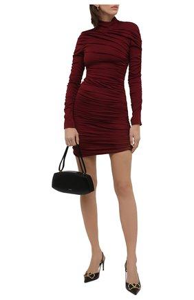 Женское платье из вискозы STELLA MCCARTNEY бордового цвета, арт. 603943/SSA34 | Фото 2 (Длина Ж (юбки, платья, шорты): Мини; Материал внешний: Вискоза; Материал подклада: Вискоза; Рукава: Длинные; Стили: Гламурный; Случай: Вечерний; Женское Кросс-КТ: Платье-одежда, платье-футляр)