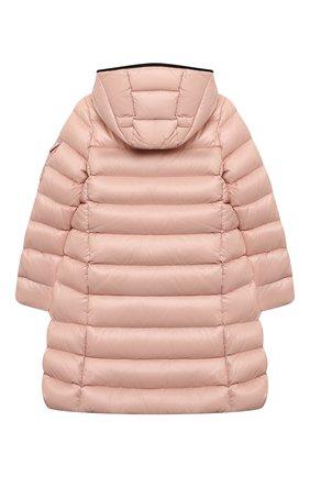 Детское пуховое пальто moka MONCLER розового цвета, арт. G2-954-1C501-10-68950/12-14A | Фото 2 (Материал подклада: Синтетический материал; Материал внешний: Синтетический материал; Материал утеплителя: Пух и перо)