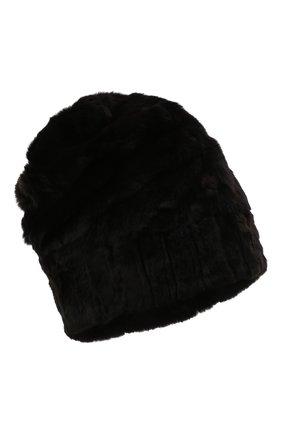 Мужская шапка из меха колонка FURLAND черного цвета, арт. 0105108150101200000   Фото 1 (Материал: Натуральный мех)