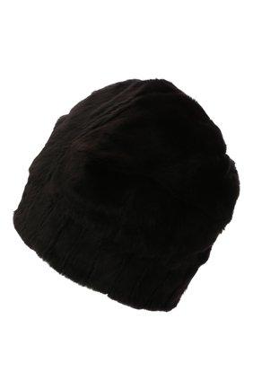 Мужская шапка из меха колонка FURLAND черного цвета, арт. 0105108150101200000   Фото 2 (Материал: Натуральный мех)
