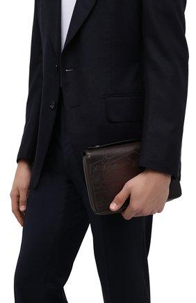 Мужской кожаный несессер BERLUTI темно-коричневого цвета, арт. N231932 | Фото 2 (Материал: Натуральная кожа; Размер: small)