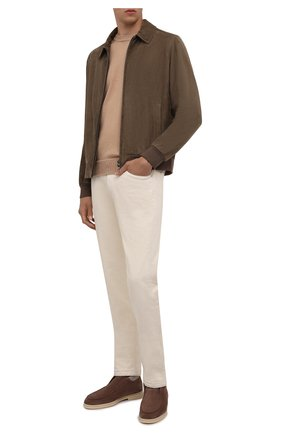 Мужские замшевые ботинки open wintery walk LORO PIANA коричневого цвета, арт. FAL9979 | Фото 2 (Материал утеплителя: Натуральный мех; Мужское Кросс-КТ: Ботинки-обувь, зимние ботинки; Подошва: Плоская; Материал внешний: Замша)