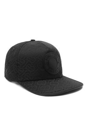 Мужской бейсболка BURBERRY черного цвета, арт. 8041633 | Фото 1 (Материал: Синтетический материал, Текстиль)