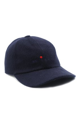 Мужской кашемировая бейсболка KITON темно-синего цвета, арт. UCAPP06/281A | Фото 1 (Материал: Кашемир, Шерсть)