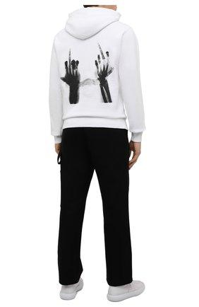 Мужской хлопковое худи MSFTSREP белого цвета, арт. 31MSFM39/218781   Фото 2 (Материал внешний: Хлопок; Рукава: Длинные; Длина (для топов): Стандартные; Мужское Кросс-КТ: Худи-одежда; Принт: С принтом; Стили: Гранж)