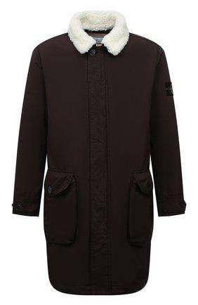 Мужская утепленная куртка STONE ISLAND темно-коричневого цвета, арт. 751570749 | Фото 1 (Материал утеплителя: Шерсть; Материал внешний: Синтетический материал; Рукава: Длинные; Длина (верхняя одежда): До середины бедра; Стили: Кэжуэл; Мужское Кросс-КТ: утепленные куртки; Кросс-КТ: Куртка)