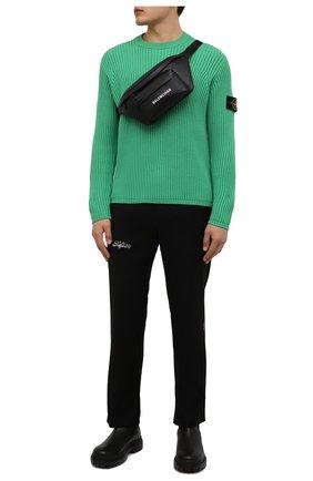 Мужской шерстяной свитер STONE ISLAND зеленого цвета, арт. 7515517C2 | Фото 2 (Материал внешний: Шерсть; Мужское Кросс-КТ: Свитер-одежда; Принт: Без принта; Стили: Кэжуэл; Длина (для топов): Стандартные; Рукава: Длинные)