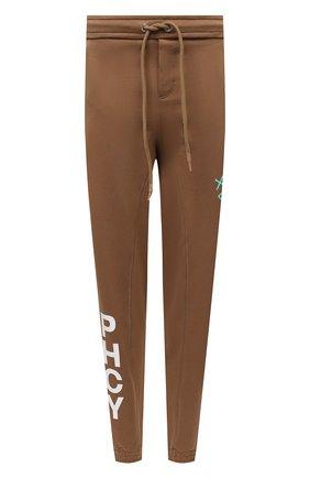 Мужские джоггеры PHARMACY INDUSTRY светло-коричневого цвета, арт. PHMSP321 | Фото 1 (Материал внешний: Синтетический материал, Хлопок; Длина (брюки, джинсы): Стандартные; Мужское Кросс-КТ: Брюки-трикотаж; Силуэт М (брюки): Джоггеры; Стили: Спорт-шик)