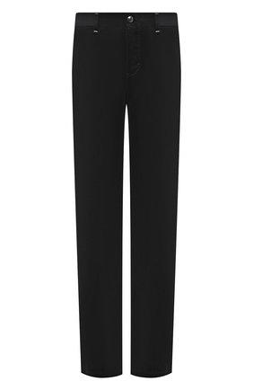 Мужские брюки из хлопка и кашемира ZILLI черного цвета, арт. M0W-D0150-VECA1/R001   Фото 1 (Материал внешний: Хлопок; Длина (брюки, джинсы): Стандартные; Случай: Повседневный; Стили: Кэжуэл)