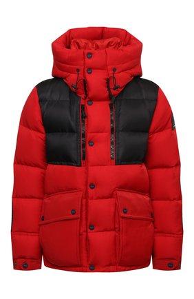Мужская пуховая куртка KNT красного цвета, арт. UGKN009X0233A   Фото 1 (Материал утеплителя: Пух и перо; Материал подклада: Синтетический материал; Рукава: Длинные; Длина (верхняя одежда): Короткие; Материал внешний: Синтетический материал; Мужское Кросс-КТ: пуховик-короткий; Кросс-КТ: Куртка; Стили: Спорт-шик)