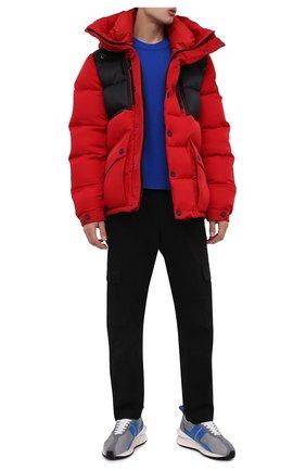 Мужская пуховая куртка KNT красного цвета, арт. UGKN009X0233A   Фото 2 (Материал утеплителя: Пух и перо; Материал подклада: Синтетический материал; Рукава: Длинные; Длина (верхняя одежда): Короткие; Материал внешний: Синтетический материал; Мужское Кросс-КТ: пуховик-короткий; Кросс-КТ: Куртка; Стили: Спорт-шик)