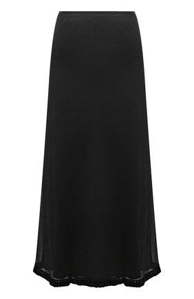 Женская шелковая юбка JIL SANDER черного цвета, арт. JSWT754315-WTY28058   Фото 1 (Материал подклада: Вискоза; Материал внешний: Шелк; Стили: Минимализм; Женское Кросс-КТ: Юбка-одежда; Длина Ж (юбки, платья, шорты): Миди)
