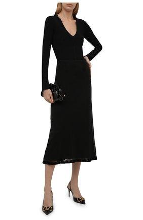 Женская шелковая юбка JIL SANDER черного цвета, арт. JSWT754315-WTY28058   Фото 2 (Материал подклада: Вискоза; Материал внешний: Шелк; Стили: Минимализм; Женское Кросс-КТ: Юбка-одежда; Длина Ж (юбки, платья, шорты): Миди)