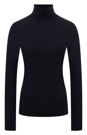 Женская водолазка JIL SANDER темно-синего цвета, арт. JSWT705047-WT477108   Фото 1 (Материал внешний: Синтетический материал; Рукава: Длинные; Длина (для топов): Стандартные; Стили: Минимализм; Женское Кросс-КТ: Водолазка-одежда)