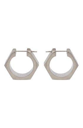 Женские серьги OFF-WHITE серебряного цвета, арт. 0W0D031F21MET0017200 | Фото 1 (Материал: Металл)