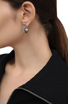 Женские серьги OFF-WHITE серебряного цвета, арт. 0W0D031F21MET0017200 | Фото 2 (Материал: Металл)