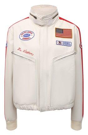 Женская хлопковая куртка POLO RALPH LAUREN кремвого цвета, арт. 211847146 | Фото 1 (Материал внешний: Хлопок; Рукава: Длинные; Материал подклада: Хлопок; Кросс-КТ: Куртка; Стили: Спорт-шик; Длина (верхняя одежда): Короткие)