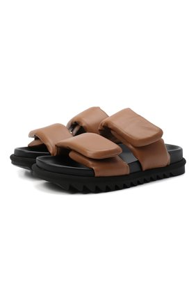 Женские кожаные сандалии DRIES VAN NOTEN бежевого цвета, арт. WW212/171/QU101 | Фото 1 (Материал внутренний: Натуральная кожа; Подошва: Платформа)