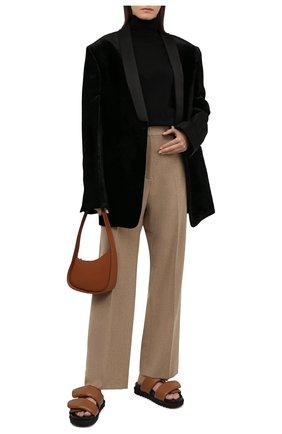Женские кожаные сандалии DRIES VAN NOTEN бежевого цвета, арт. WW212/171/QU101 | Фото 2 (Материал внутренний: Натуральная кожа; Подошва: Платформа)
