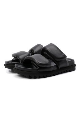 Женские кожаные сандалии DRIES VAN NOTEN черного цвета, арт. WW212/171/QU101 | Фото 1 (Материал внутренний: Натуральная кожа; Подошва: Платформа)