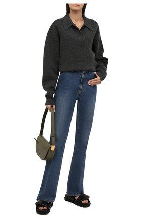 Женские кожаные сандалии DRIES VAN NOTEN черного цвета, арт. WW212/171/QU101 | Фото 2 (Материал внутренний: Натуральная кожа; Подошва: Платформа)